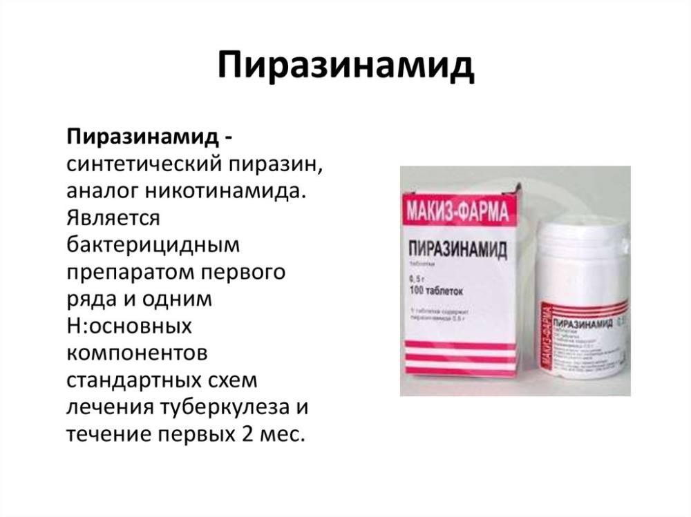 Пиразинамид- препарат для лечения Туберкулеза